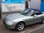 Mazda Mx 5 1.6 NBFL, Silver Blues, 2004, 125.000 km... VERKOCHT